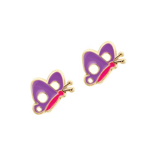 Beautiful Butterfly Cutie Enamel Stud Earrings by Girl Nation