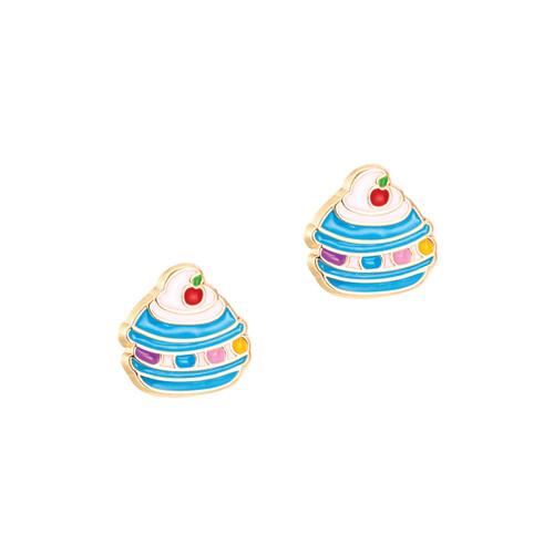 Le Mini Macaron Cutie Enamel Stud Earrings by Girl Nation