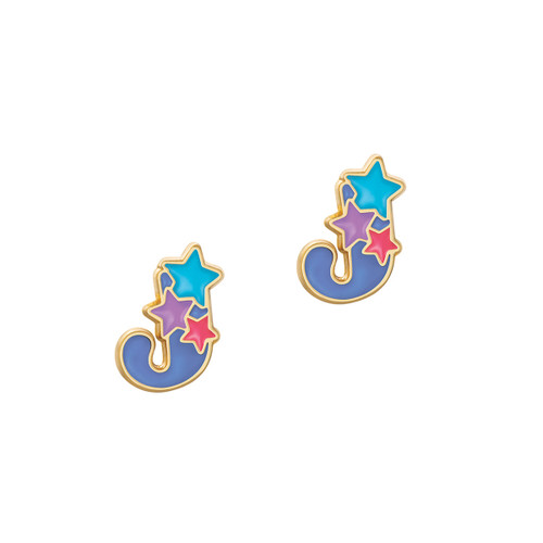 J Initial Stud Earring by Girl Nation