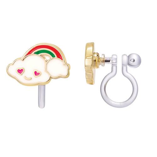 Cloud Luvs Rainbow Cutie Clip-on Earrings