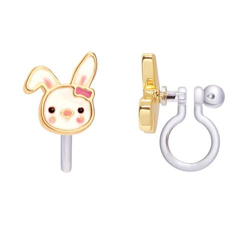 Bouncy Bunny Cutie Clip-On Earrings from Girl Nation
