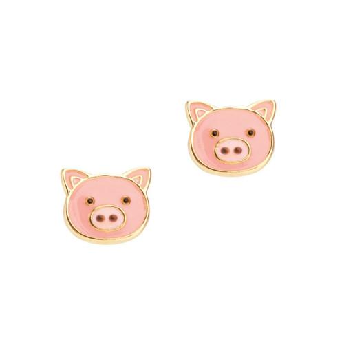 Cutie Enamel Studs Precious Pig