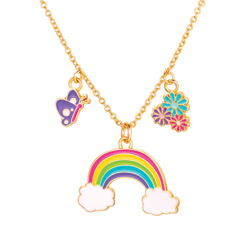 Charming Whimsy Necklace Cloud Luvs Rainbow