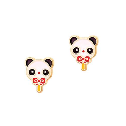 Cutie Enamel Studs Panda Popsicle