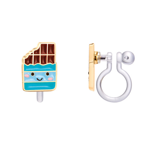 Cheery Chocolate Cutie Clip On Earrings by Girl Nation