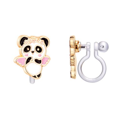 Panda Angel Cutie Clip On Earrings by Girl Nation