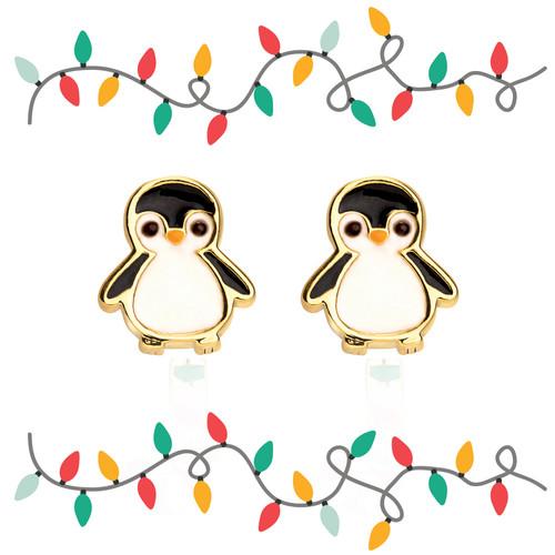 Penguin Cutie Enamel Stud Earrings