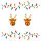 Santa's Reindeer Cutie Enamel Stud Earrings