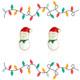 Snowman Cutie Enamel Stud Earrings
