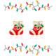 Holiday Stocking Cutie Enamel Stud Earrings