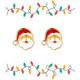 Ho Ho Ho Santa Cutie Enamel Stud Earrings