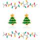 O Christmas Tree Cutie Enamel Stud Earrings