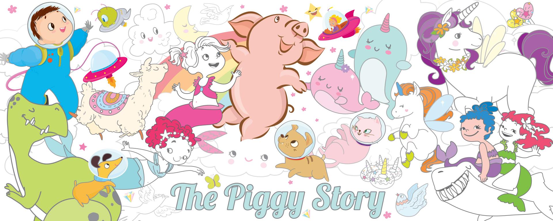 Visit https://thepiggystory.com to shop The Piggy Story