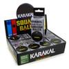 Karakal Comp Single Yellow Dot Squash Balls - 1 Dozen