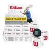 Wilson Staff Premium Single Yellow Dot Squash Ball - 1 Dozen