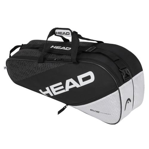 Head Elite Combi 6 Racquet Bag - Black & White