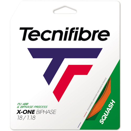 Tecnifibre X-One Biphase 1.18 Squash String 10 Meter Set - Orange