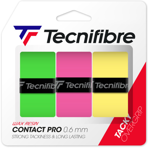 Tecnifibre Contact Pro Overgrips 3 Pack - Fluo