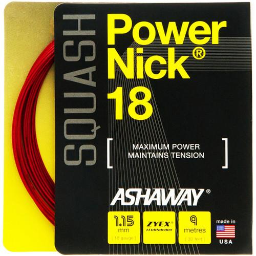 Ashaway PowerNick 18 Squash String 9 Meter Set - Red