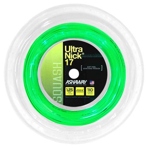 Ashaway UltraNick 17 Squash String 110 Meter Reel - Optic Green