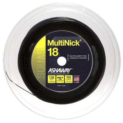 Ashaway MultiNick 18 Squash String 110 Meter Reel - Black