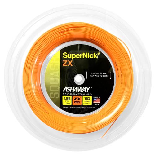 Ashaway SuperNick ZX 17 Squash String 110 Meter Reel  - Orange