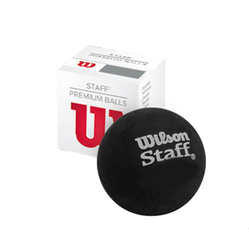 Wilson Staff Premium Single Yellow Dot Squash Ball - Single