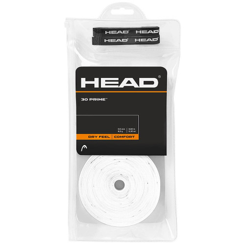 Head Prime Overgrips 30 Pack - White