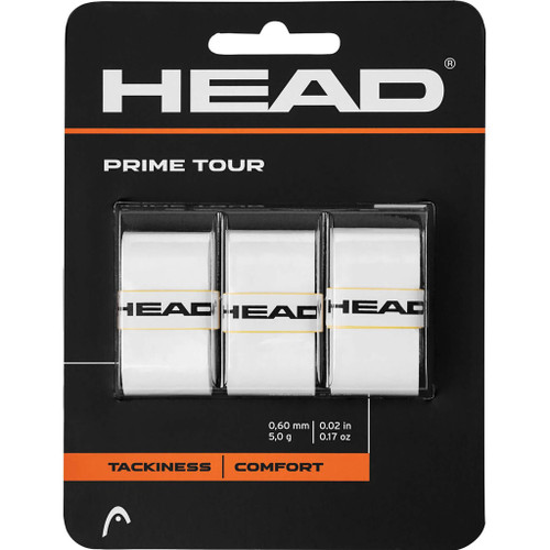 Head Prime Tour Overgrips 3 Pack - White