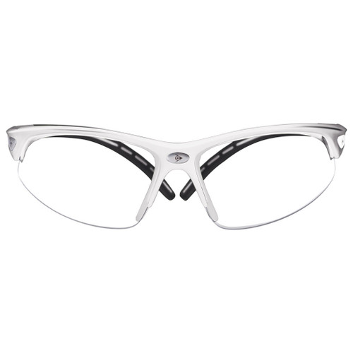 Dunlop I-Armour Squash Goggles Protective Eyeguards - White / Black