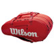 Wilson Super Tour 3 Compartment 15 Racquet Bag - Red