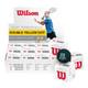 Wilson Staff Premium Double Yellow Dot Squash Ball - 1 Dozen