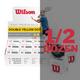 Wilson Staff Premium Double Yellow Dot Squash Ball  - 1/2 Dozen