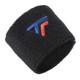 Tecnifibre Absorbent Sweatband Wristbands Twin Pack - Black