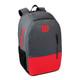 Wilson Team Racquet Backpack Bag - Grey & Red