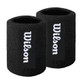 Wilson Absorbent Extra Wide Wristband Sweatband Twin Pack - Black