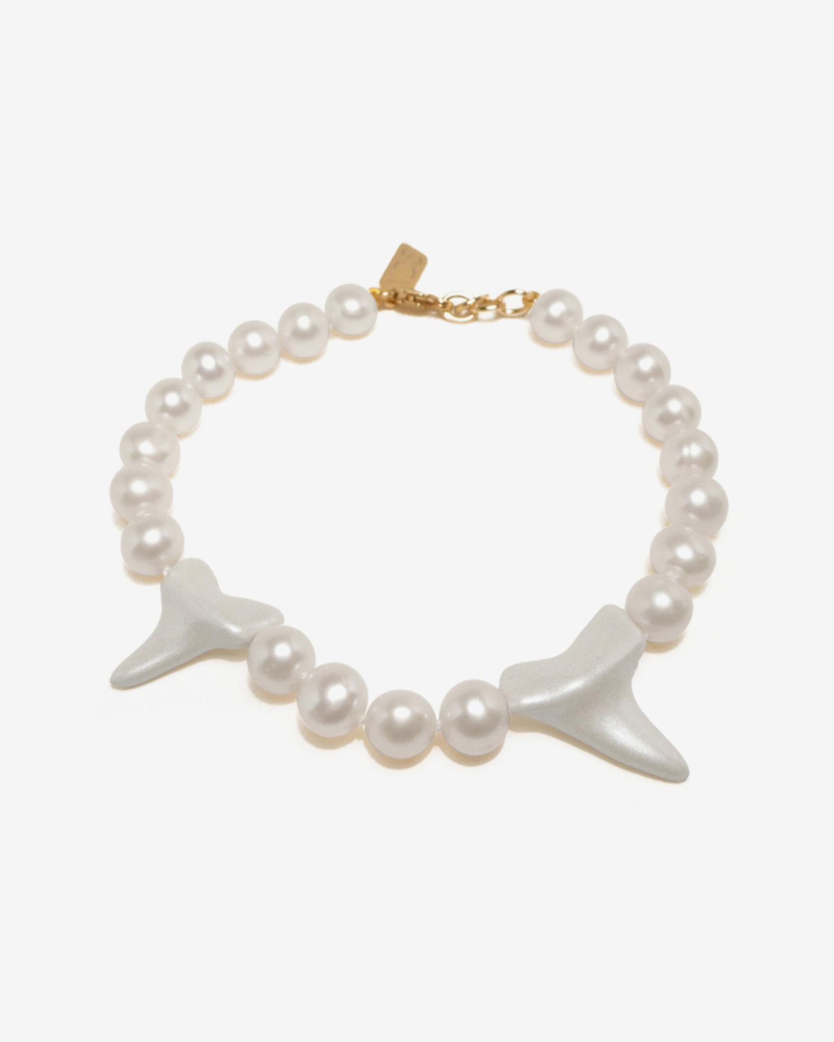 Cruelty Free Shark Teeth & Pearl Bracelet by Fine Jewelry Designer Nektar De Stagni