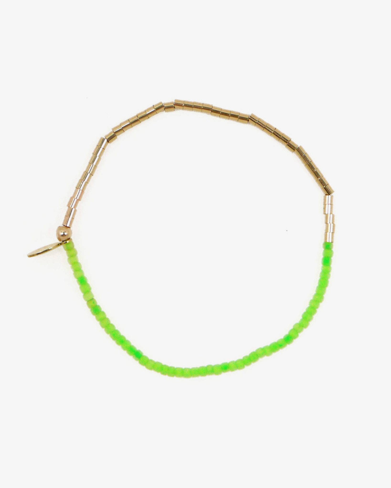 Neon-Green-Gold-Bead-Delicate-Friendship-Bracelet-by-Fine-Jewelry-Designer-Nektar-De-Stagni