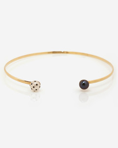 LadyBug Diamond & Black Pearl Choker by  Fine Jewelry Designer Nektar De Stagni