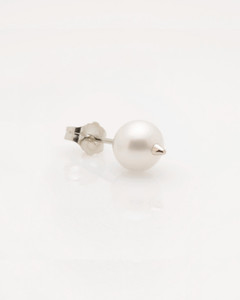 Cultured Freshwater Pearl Earring with 925 Sterling Silver Spike and Post by Jewelry Designer Nektar De Stagni