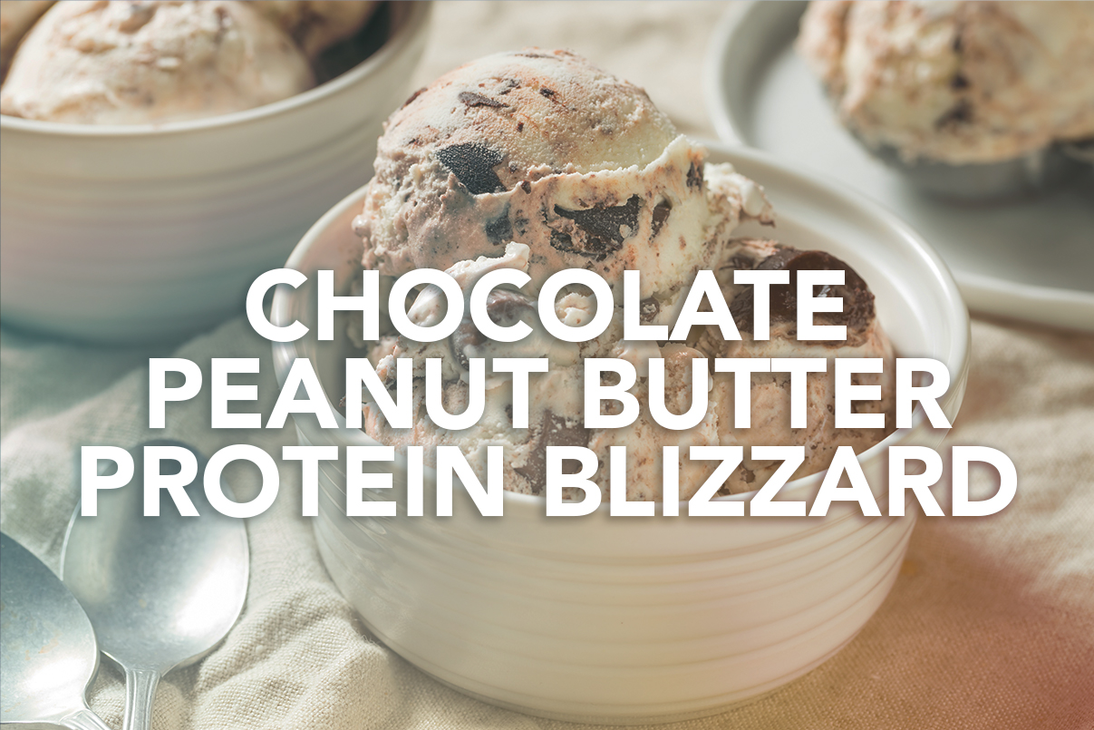 Rivalus At Home Recipes: Chocolate Peanut Butter Protein Blizzard
