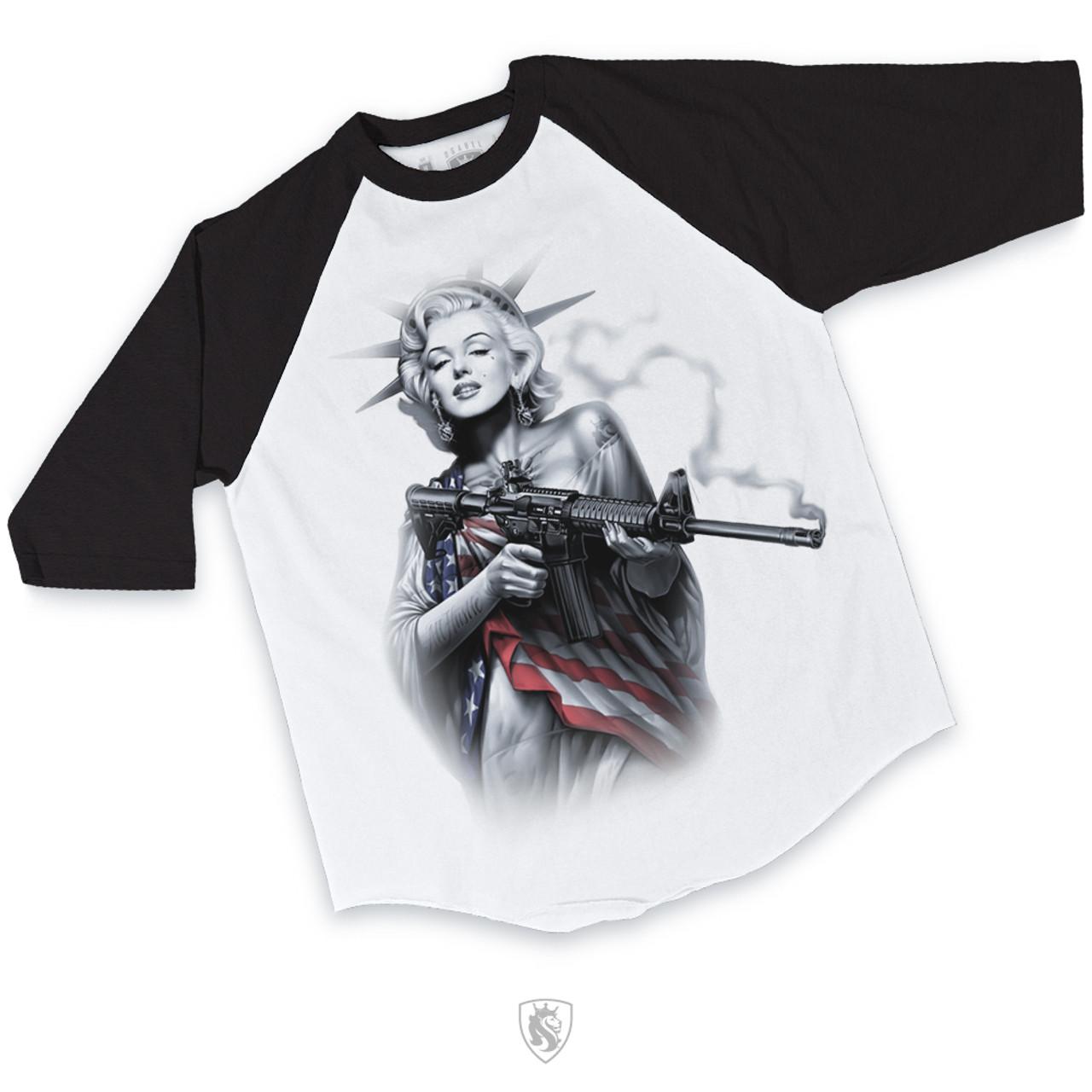 Marilyn Monroe Raglan T-Shirt Mens Womens Ladies