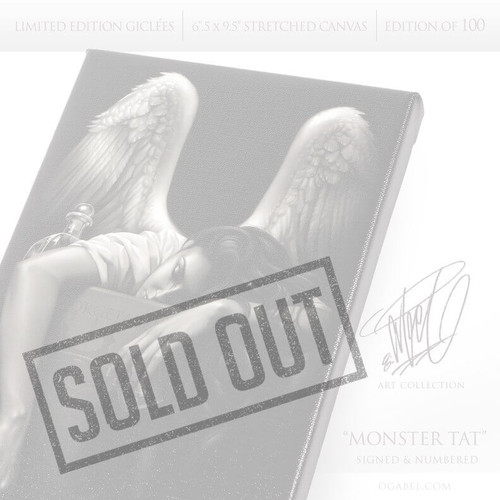 "Fallen Angel 6.5""x 9.5"" Limited Edition Canvas"