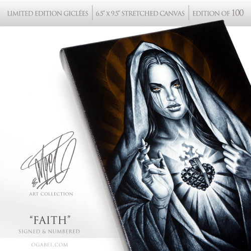 """FAITH 6.5""""x 9.5"""" Limited Edition Canvas"""