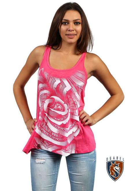Money Rose Flowy Tank (Pink)