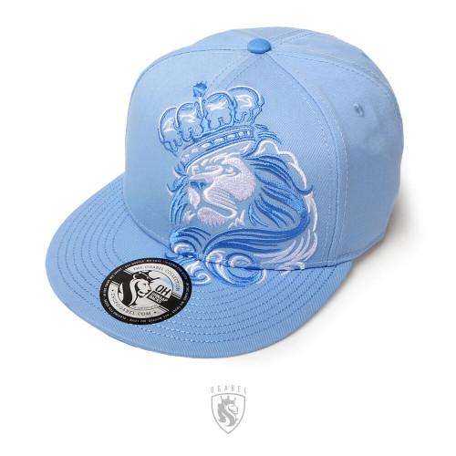 CROWN LION Snapback Hat (Lt Blue)