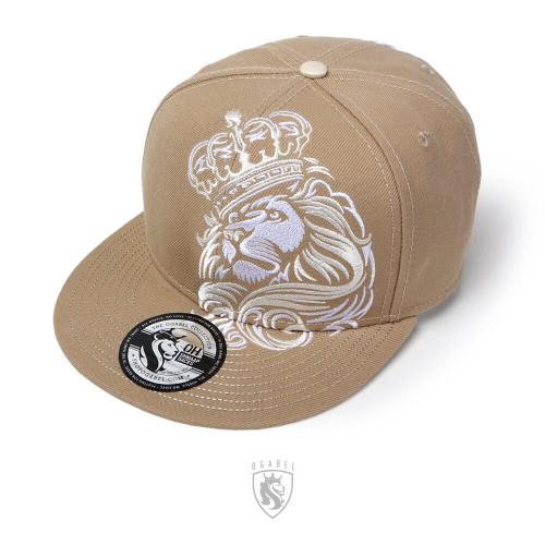 CROWN LION Snapback Hat (Sand)