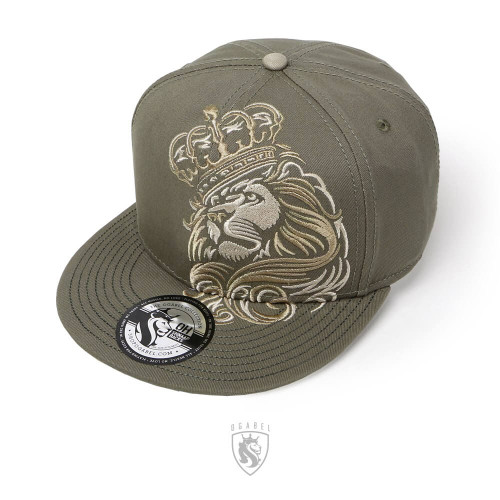 CROWN LION Snapback Hat (Forest)