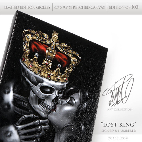 """Lost King 6.5""""x 9.5"""" Limited Edition Canvas"""