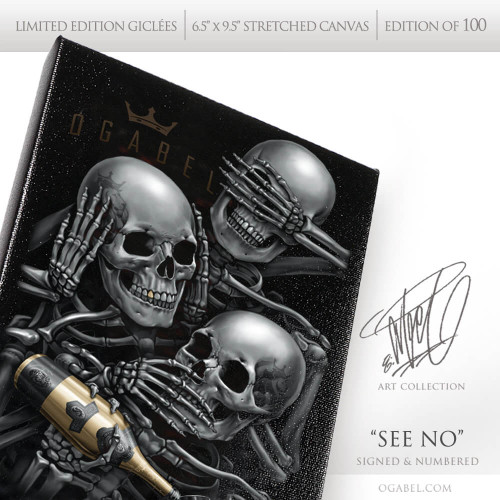 """See No 6.5""""x 9.5"""" Limited Edition Canvas"""